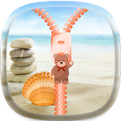 Sea shells Zipper Lock Screen icon
