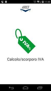 Calcolo/scorporo IVA poster
