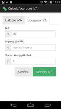 Calcolo/scorporo IVA apk screenshot