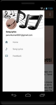 Tamil Lyrics of Eetti apk screenshot