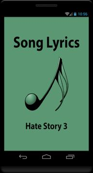 Hindi Lyrics of Hate Story 3 poster