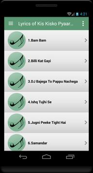 Lyrics Kis Kisko Pyaar Karoon apk screenshot