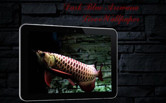 Dark Blue Arowana Fish LWP poster