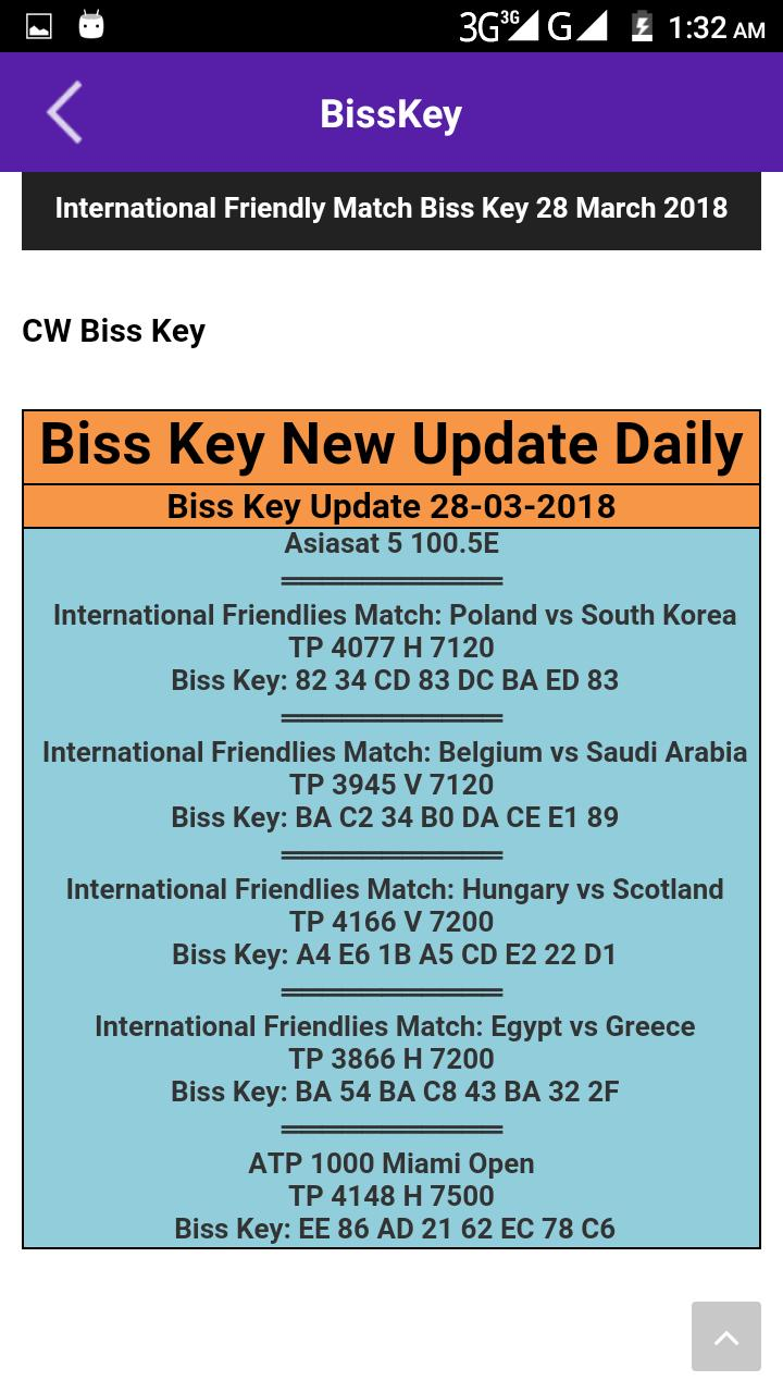 All New Biss Key