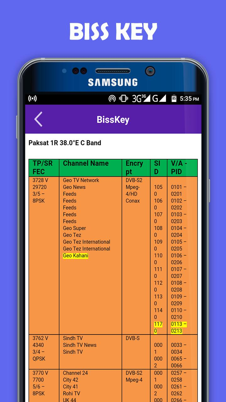 All Satellite PowerVU and Biss Key for Android - APK Download