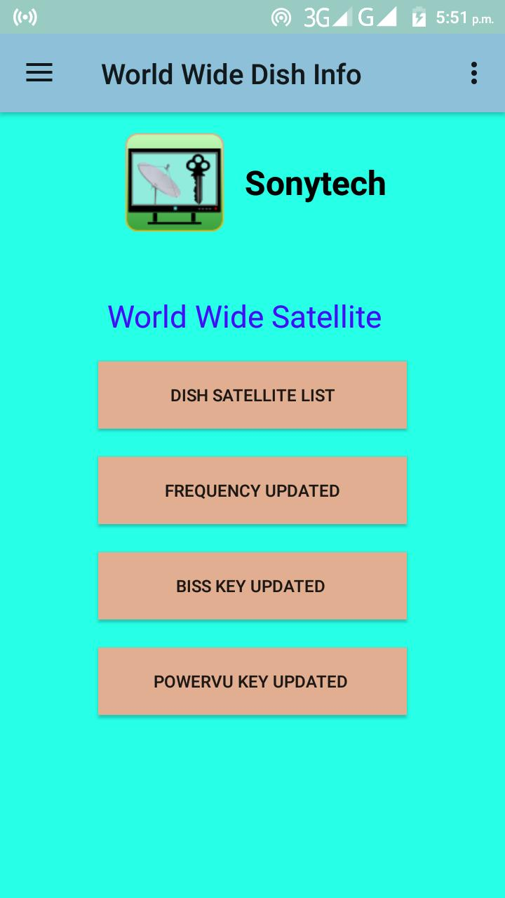 All Channel PowerVU Biss Key & Frequency Finder for Android