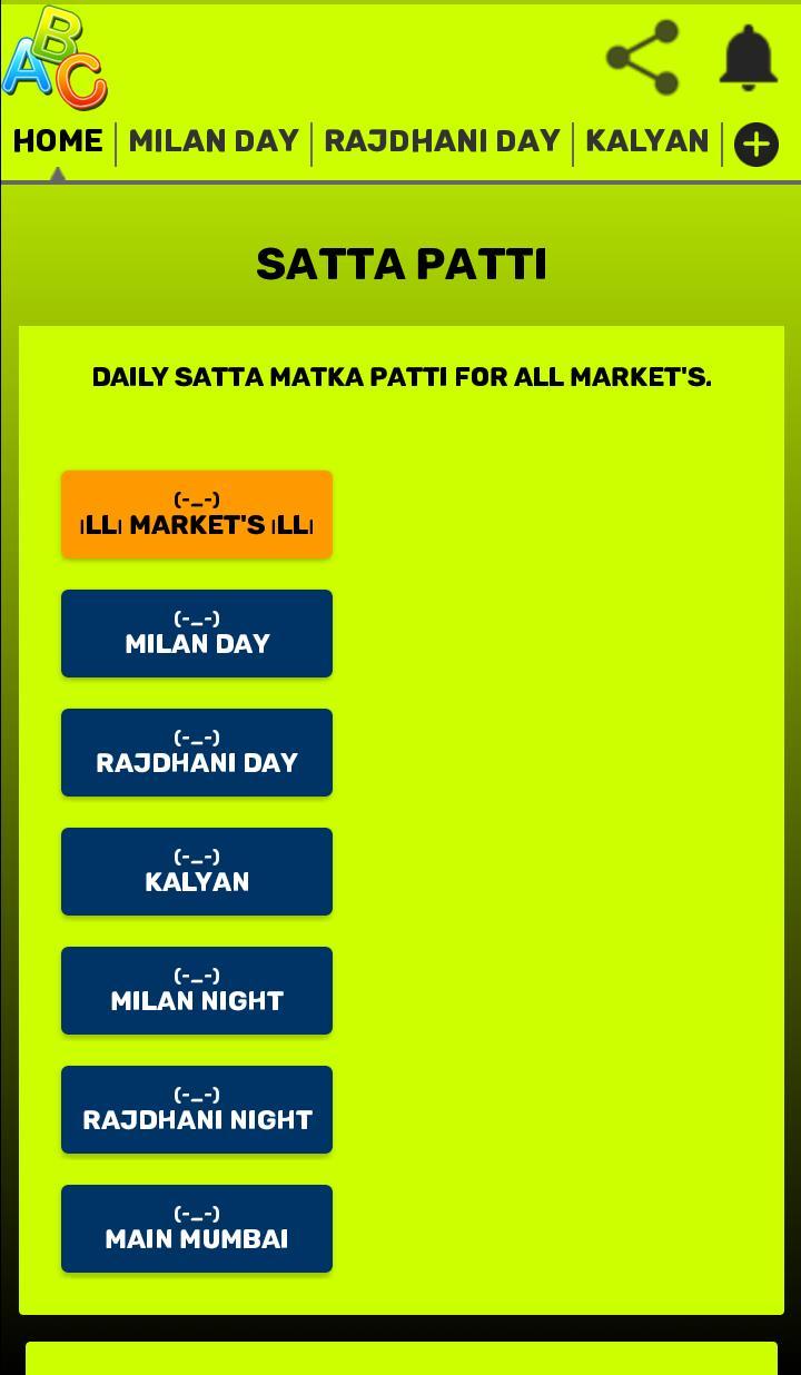 SaTTa PaTTi Kalyan Mumbai Sure ANK Jodi And PaTTi for