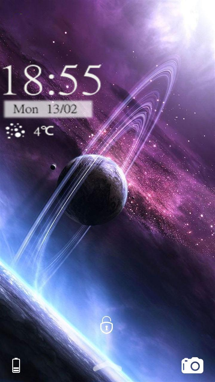 Android 用の 土星銀河のきらめきのテーマ Apk をダウンロード