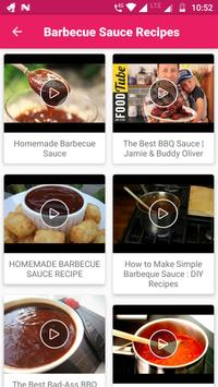 Sauce Recipes Video : BBQ, Easy, Best, Delicious screenshot 2