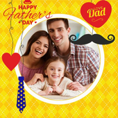 father's day photo frame icon