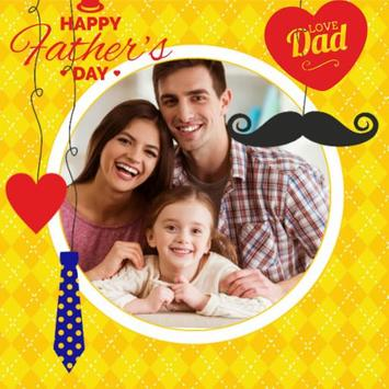 father's day photo frame poster