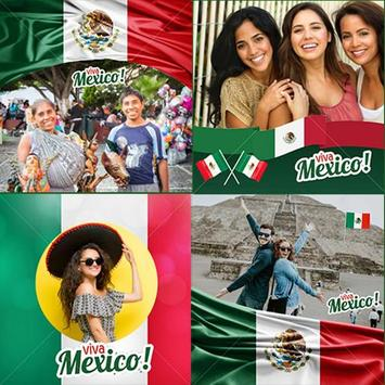 Mexico flag photo editor poster
