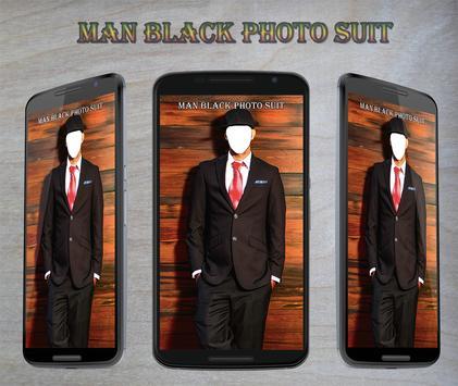 Man Black Photo Suit apk screenshot