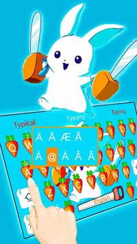 Typany Bunny Rabbit Keyboard Theme screenshot 1
