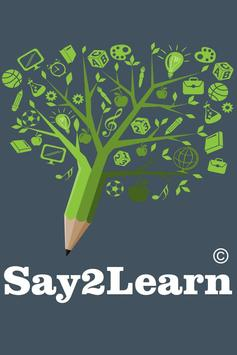 Say2Learn poster