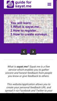 Guide for Sayat.Me screenshot 14