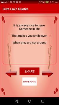Cute Love Quotes & Sayings apk screenshot
