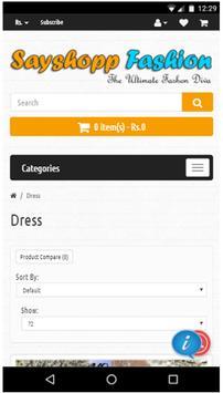 Sayshopp Fashion screenshot 1