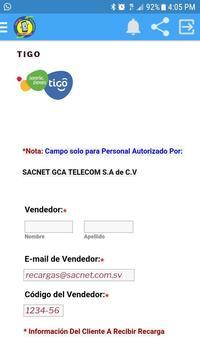 TopUp  Sacnet SV apk screenshot