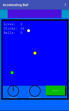 Accelerating Ball poster