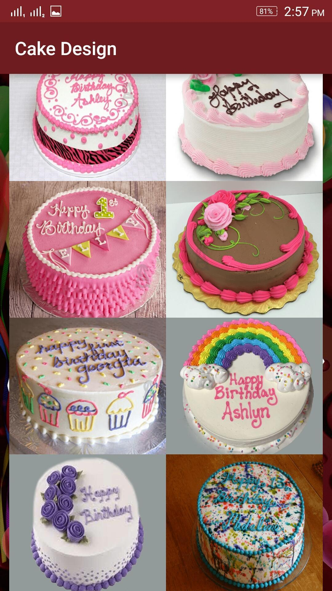 Outstanding Birthday Cakes Designs Round Cakes For Android Apk Download Funny Birthday Cards Online Hendilapandamsfinfo