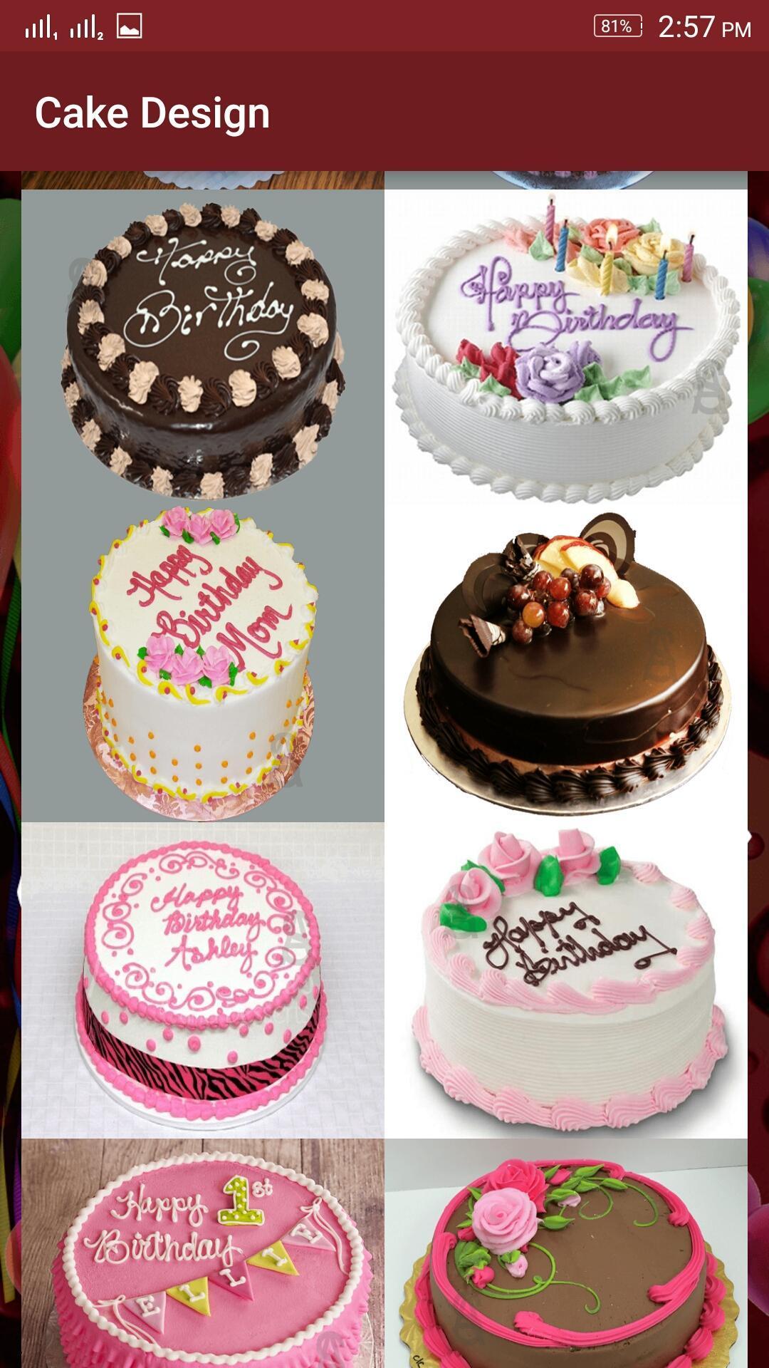 Birthday Cakes Designs- Round cakes poster
