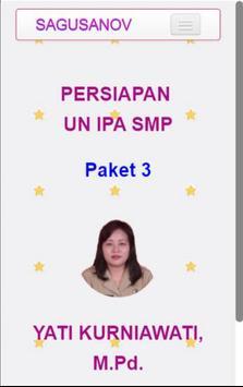 IPA - Persiapan UN SMP Paket 3 poster