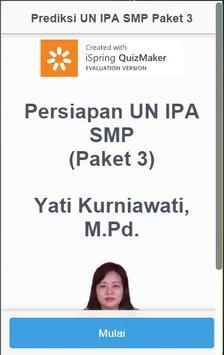 IPA - Persiapan UN SMP Paket 3 apk screenshot