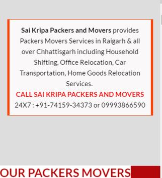 SAI KRIPA PACKERS AND MOVERS screenshot 1