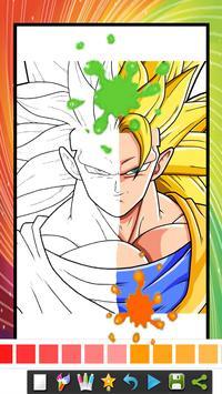 coloring book for super saiyan coloring page screenshot 1