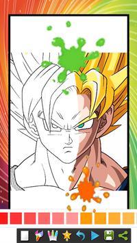 coloring book for super saiyan coloring page screenshot 2