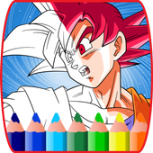 coloring book for saiyan super-héro coloring kids icon