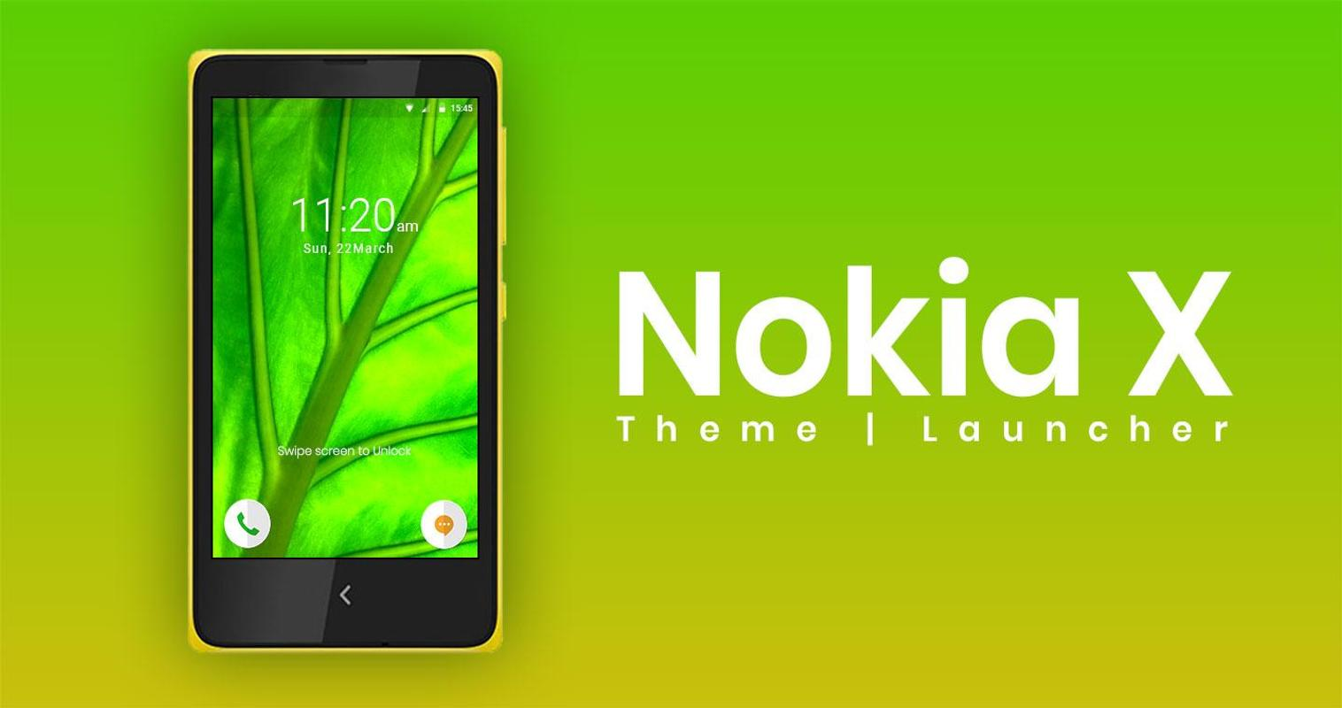 Nokia X Theme And Launcher For Android Apk Download Xl Yellow Poster Screenshot 1