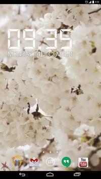 Sakura Flowers HD Live Wallpap poster