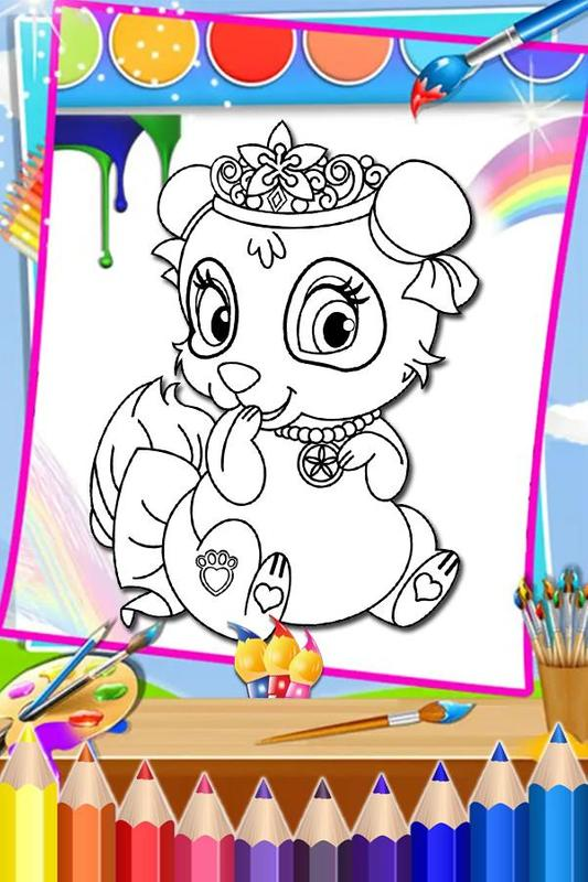 How To Color Disney Palace Pets