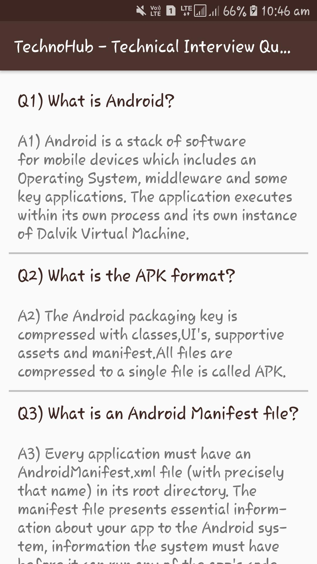 TechnoHub - Technical Interview Questions for Android - APK
