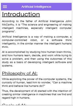 Artificial Intelligence screenshot 2
