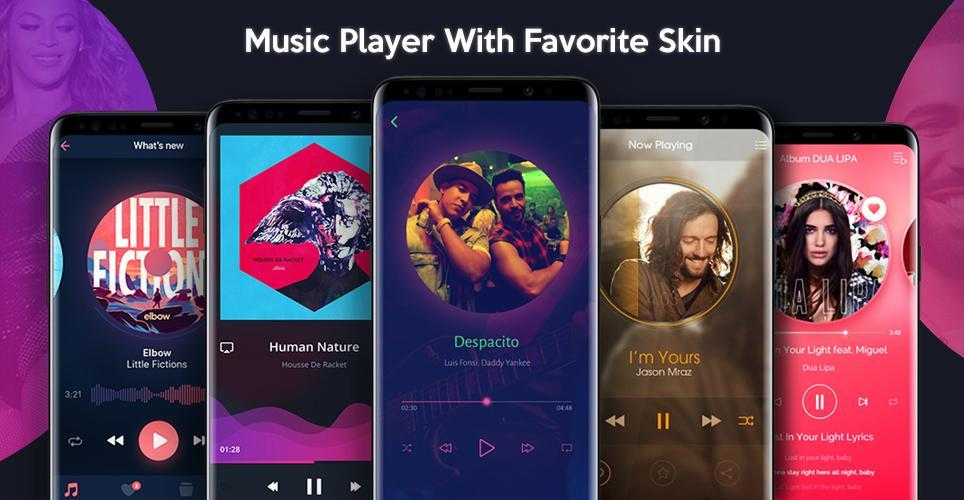 Music Player Style Samsung Galaxy S9 S8 Edge 2018 for