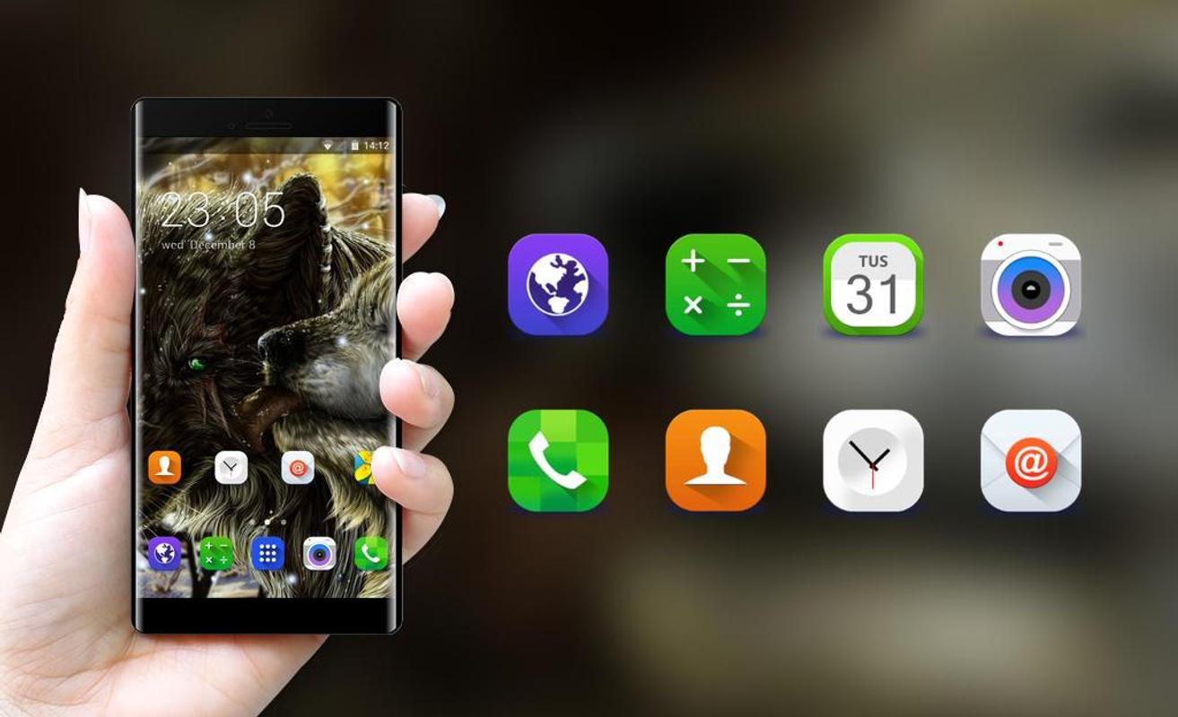 Theme For Samsung Galaxy Ace Wolf Wallpaper Fur Android Apk