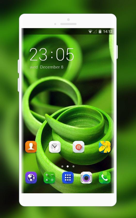 Theme For Samsung Galaxy J5 Pro Green Wallpaper для андроид