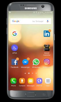 S6 Launcher and S6 edge theme poster
