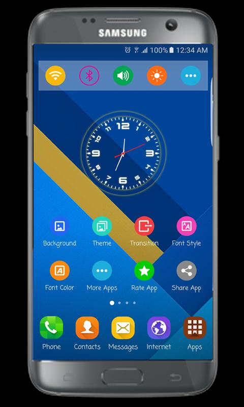 how to change launcher s7