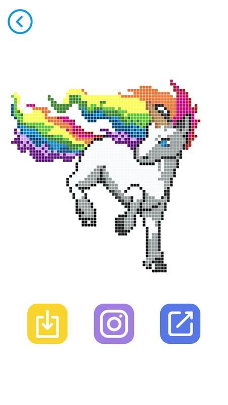 Android Için Pixel Art Sayıya Göre Renkli Boyama Sayfaları Apk
