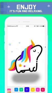 Pix Unicorn | Color by pixel art Drawbox Animals screenshot 2