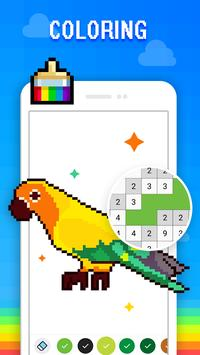 Color by Number - Draw Sandbox Pixel Art poster