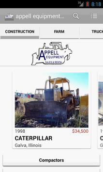 appell equipment sales poster