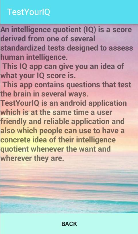 Test Your IQ App- Best IQ app for Android - APK Download