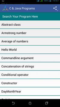 C & Java Programs screenshot 2