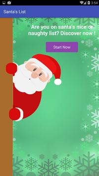 Santa Claus list for christmas poster