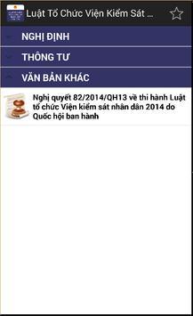 Luật Tổ chức viện kiếm sát nhân dân 2014 apk screenshot